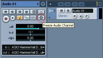 cubase 9 freeze track